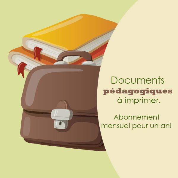 Abonnement documents pédagogiques à imprimer