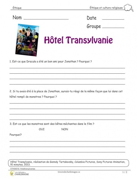 Exercice éthique hotel transylvanie