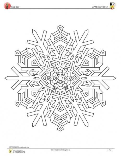 Mandalas de Noël - document téléchargeable - Les trésors de...