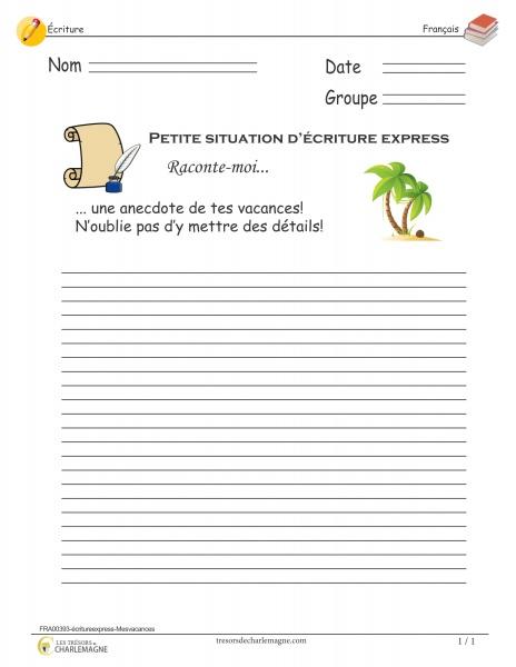 FRA00393- écriture express - Mes vacances_01